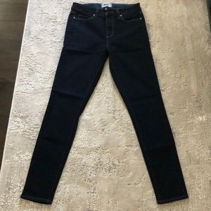 Paige dark wash skinny jeans